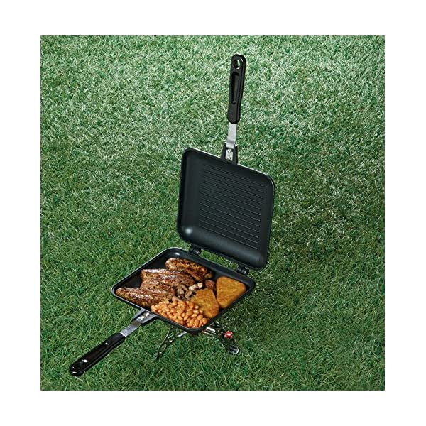 TF Gear Camping Sandwich Toaster Grill, Cooks Toasties, Breakfast and More! Ideal for Fishing