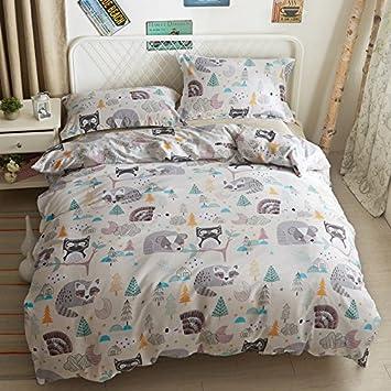 43d14de2993ed3 Thefit Paisley textile Parure de lit pour filles et garçons W303 veille  Raton laveur Chouette Housse