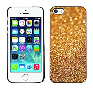 Caucho caso de Shell duro de la cubierta de accesorios de protección BY RAYDREAMMM - Apple iPhone 5 / 5S - Gold Dust Bling Blurry Metal Glitter Shiny