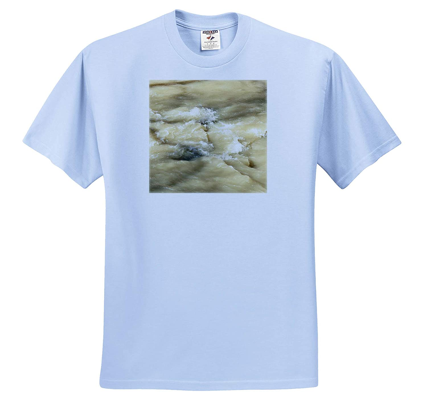 Adult T-Shirt XL The Rushing Water in The Creek in a Muddy Color 3dRose Jos Fauxtographee- Stream ts/_318883