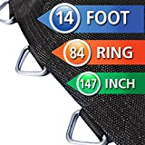 147 in. Round Trampoline Mat with 84 Rings Fits 14 ft. Frame using 6.5 in. Springs (Leisure Kingdom 1401)