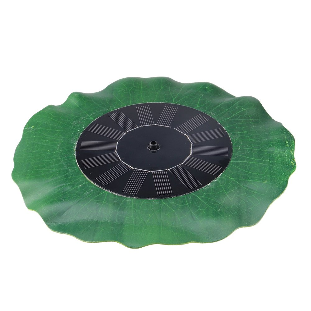 Handfly 1.4W Solar Fountain for Birdbath Solar Fountain Pump Outdoor Solar Water Pump Green Lotus-Leaf Solar Powered Fountain Pump Kit for Pond Bird Bath Yard Garden Aquarium