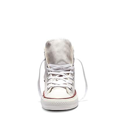 Converse Chuck Taylor All Star Sheen Wash Hi White/Aporous Gray/White (WS)