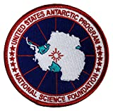 US Antarctic Program USAP Logo Iron-On Jacket Patch - Antarctica Patch Badge