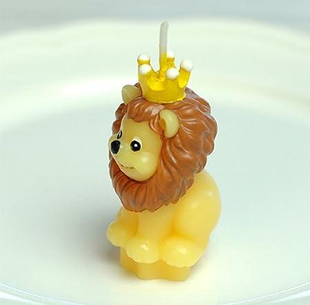 Leisial Velas de Imitación de Animales Vela de Cumpleaños Velas de Té Flotantes Sin Humo para Boda Fiesta Regalo Decoración,León 1PC