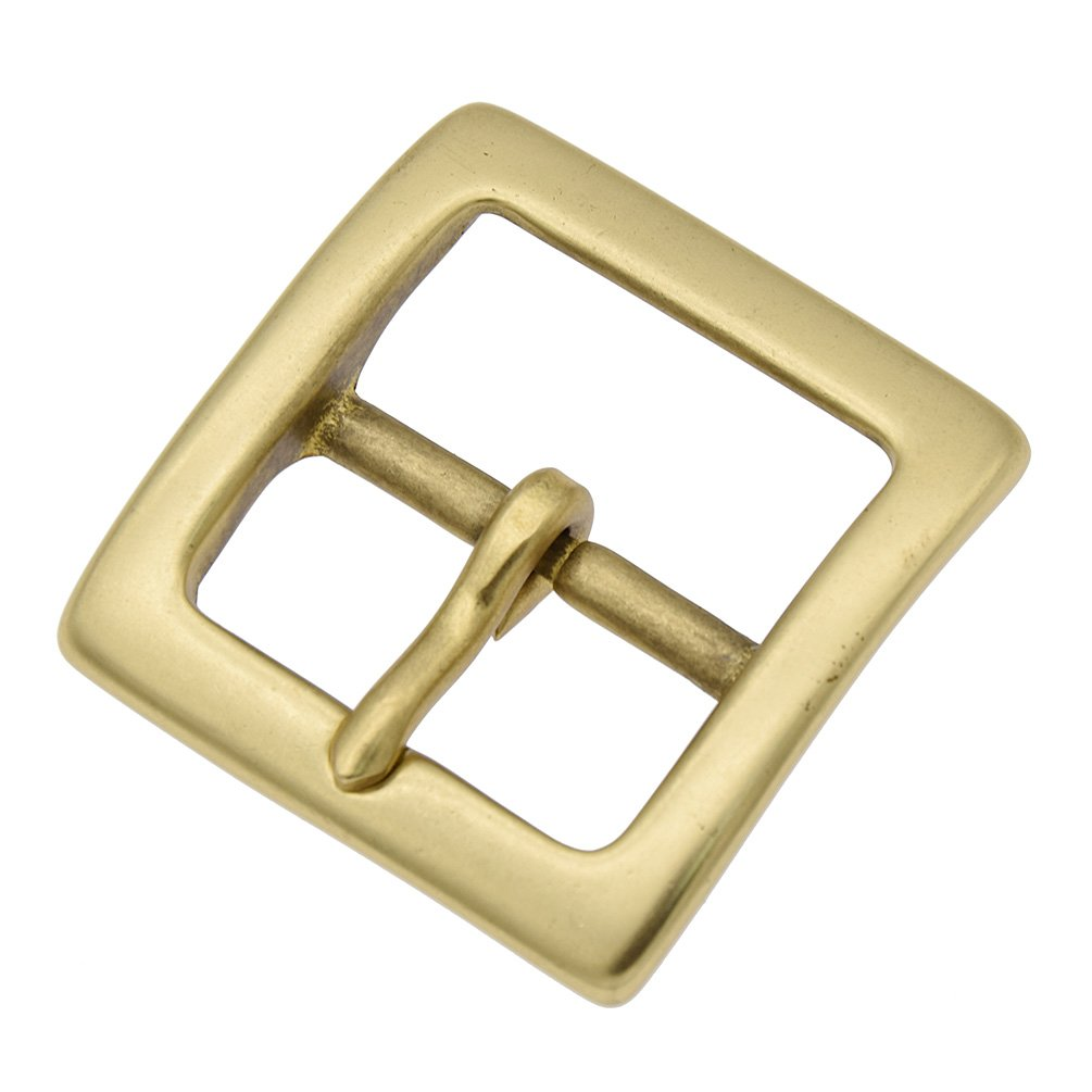 YNuth Solid Brass Square Belt Buckle for 1.5 Width Belt 3.8cm