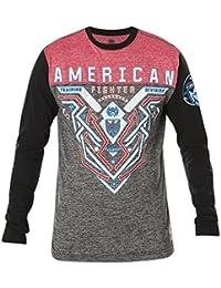 Men's Brimley Long Sleeve Tee Shirt Black/Red