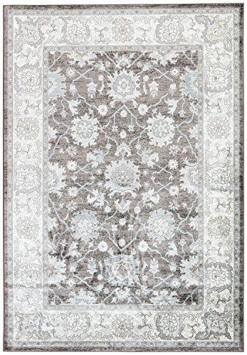 Jaipur Living Aria Floral Brown/ White Area Rug (2' X 3')