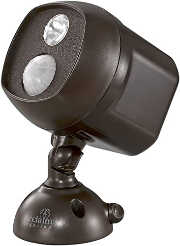 Acclaim Motion Activated LED Battery Spotlight, Bronze