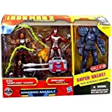 Iron Man 2 Movie Series Armored Assault Exclusive 3-3/4 Inch Scale 3-Pack with Ivan Whiplash Vanko, Iron Man Mark V and Sea Assault Drone Figures by Hasbro