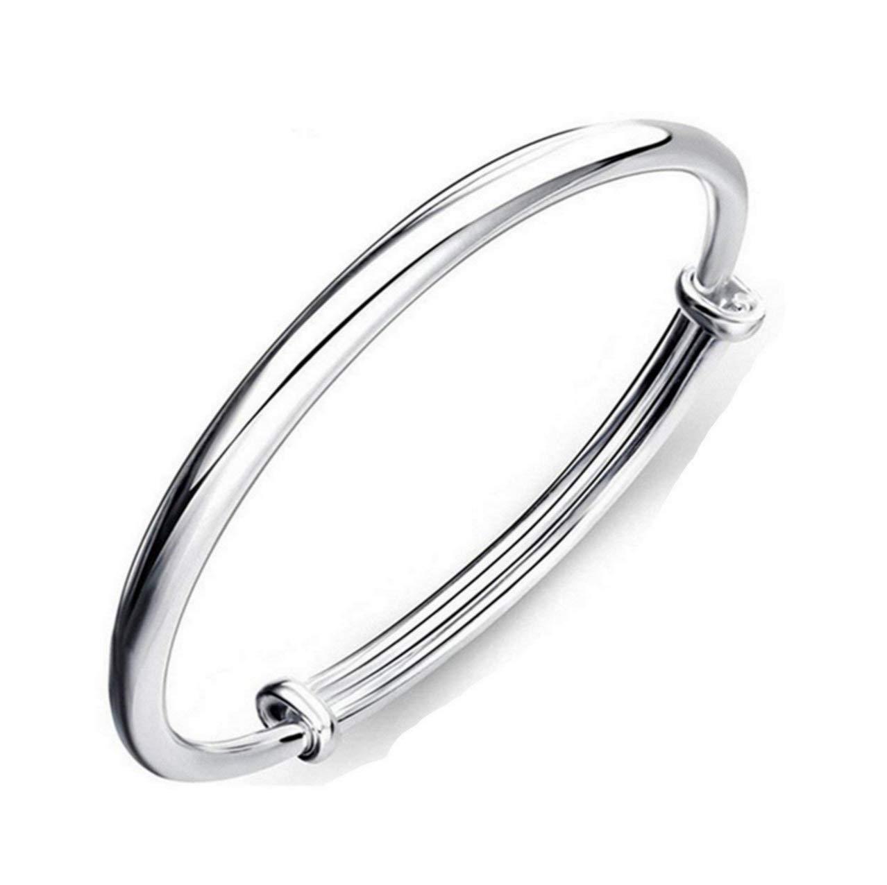 1 X Fashion Women Jewelry Solid 925 Sterling Silver Bangle Bracelet Gift
