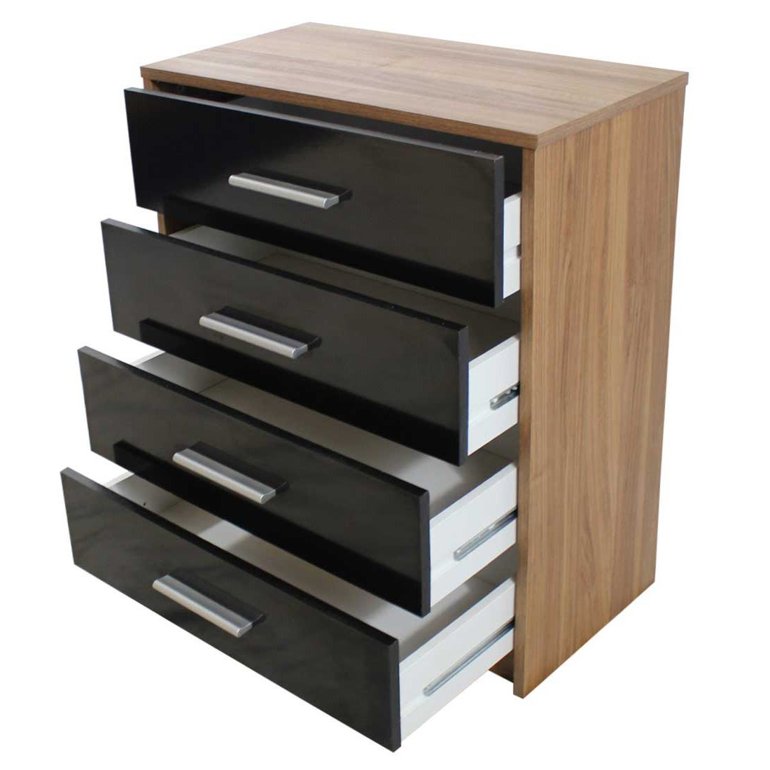 Devoted2home Glossop Bedroom Furniture With Chest Of 4 Drawers Wood