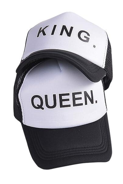 Sombrero De Bombardero De Regalo para Hombres De Pareja De King Queen Que Combina con Chapeau Diario Negro One Size: Amazon.es: Ropa y accesorios