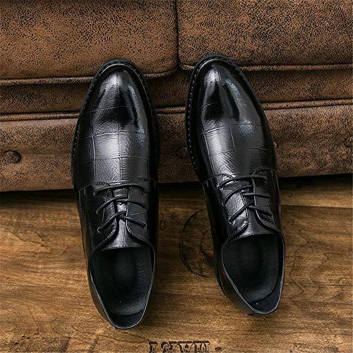 Oxford britannico shoes uomo Pelle stile 2018 Uomo Scarpe formali Scarpe 43 classico Nero Color Nero Jiuyue Nuovo stile Dimensione EU Casual Business Semplice da dxYqw74X