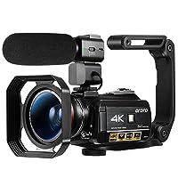 4K Video Camera Camcorder YouTube Vlogging Camera UHD WiFi IR Night Vision 3.1