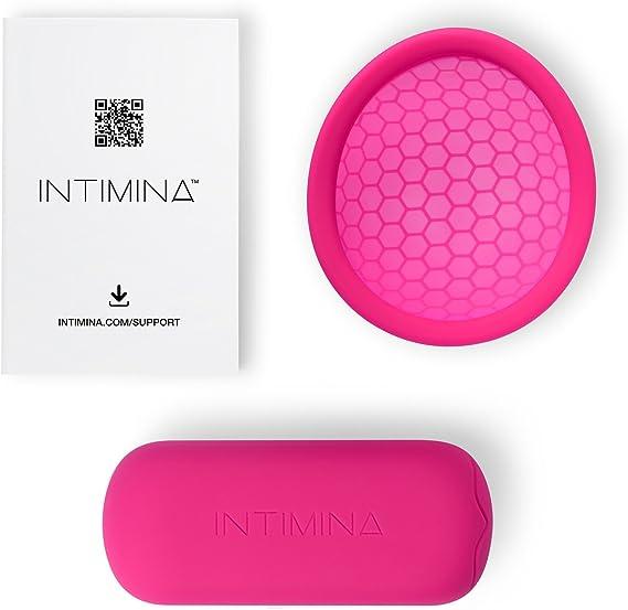 INTIMINA Ziggy Cup – Copa menstrual plana, reutilizable y extra fina