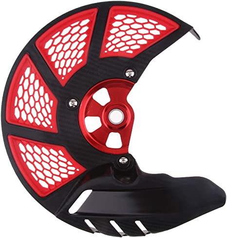 Rosso Alamor Copertura Anteriore Universale per Disco Freno Anteriore per KTM//Honda//Yamaha Motocross