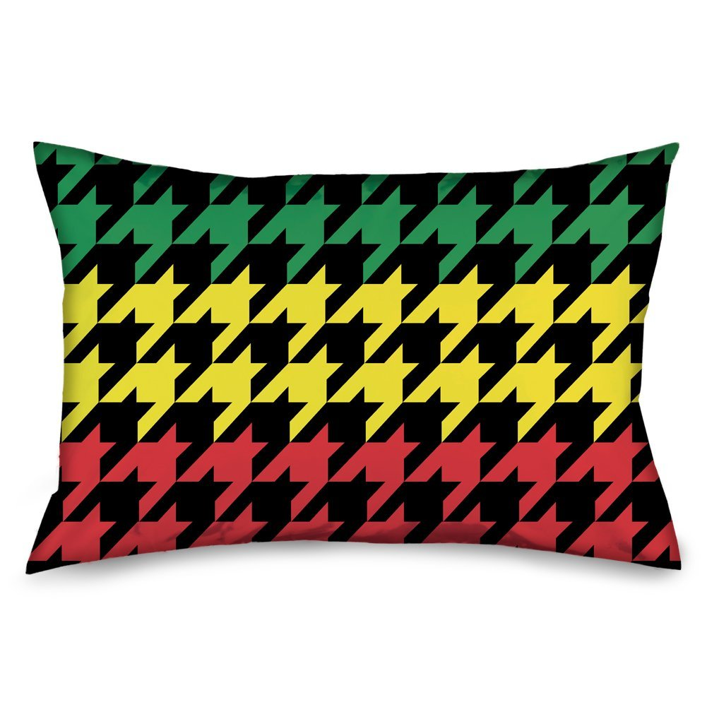 Checker Black//Red Buckle-Down Standard Pillow Case