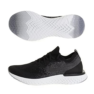 NIKE Mens Epic React Flyknit Running Shoes (8, BlackDark Grey)