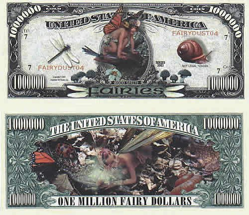 Set of 1000 - Fairies Million Dollar Bill by American Art Classics (Image #5)