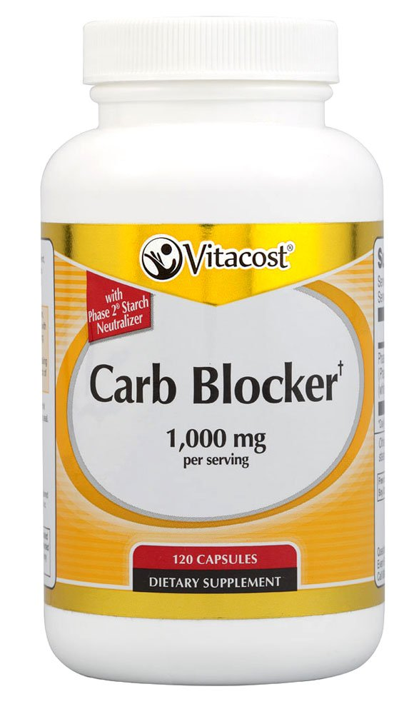 Vitacost Carb Blocker With Phase 2 Starch Neutralizer -- 1000 mg per serving - 120 Capsules by Vitacost Brand (Image #1)