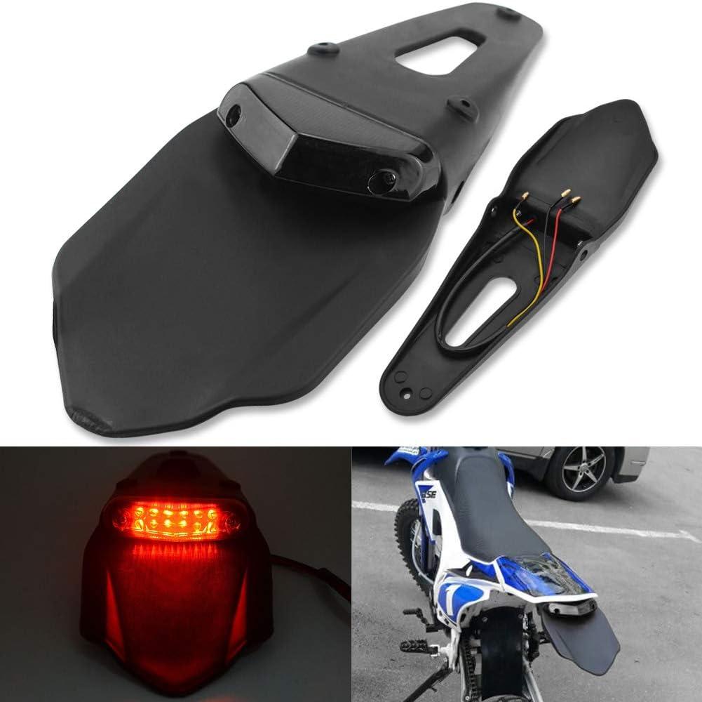 Moto Motocross GUIDATO Luce freno posteriore con staffa per Off-Road SMR 690 CR EXC WRF 250 450 125SX XR DRZ KLX KMX WR125 DREAMIZER Motociclo Bicicletta Sporca Fender Fanale Posteriore