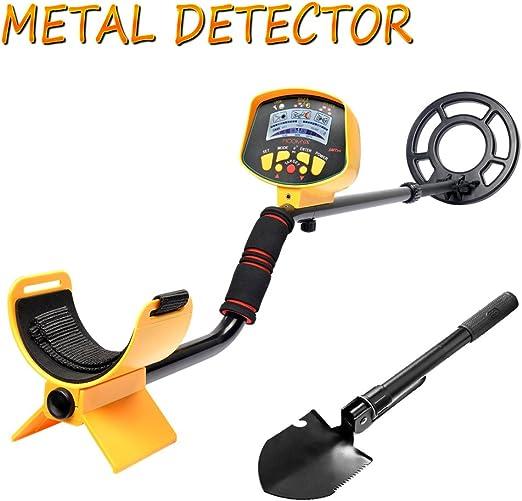 SHUOGOU Detector de metales MD9020C Pantalla LCD Impermeable de alta Sensibilidad Profesional, Vástago Ajustable Con Pala Plegable: Amazon.es: Jardín