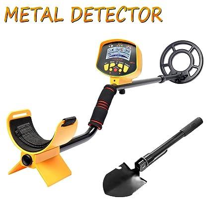 SHUOGOU Detector de metales MD9020C Pantalla LCD Impermeable de alta Sensibilidad Profesional, Vástago Ajustable Con