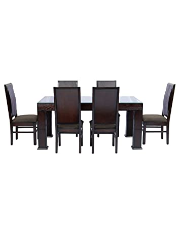 e8c43381e5 Shop Klass Solid Wood 6 Seater Dining Table: Amazon.in: Home & Kitchen