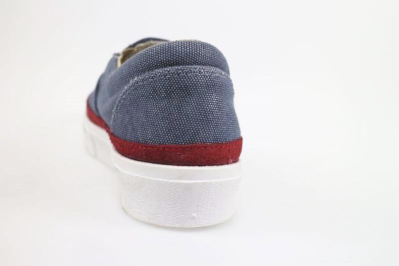 shoes woman 2 STAR Loafer / Moccasins BLUE burgundy textile suede AP715 (11 US / 41 EU )