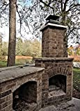 Home Comforts LAMINATED POSTER Architecture Canada Outdoor Fireplace Bricks Woods Poster 24x16 Adhesive Decal