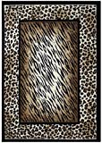 Rugs 4 Less Collection Leopard Tiger Skin Mix Animal Print Area Rug (5'X7′) Review