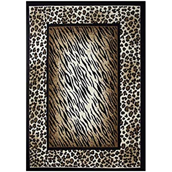 Amazon Com Rugs 4 Less Collection Leopard Tiger Skin Mix