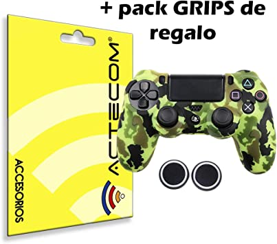 ACTECOM® Funda Carcasa + Grip Silicona Camuflaje Mando Sony PS4 Playstation 4 Camuflaje Amarillo: Amazon.es: Electrónica