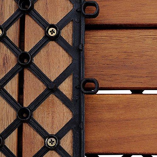 33x Dalles de terrasse en bois pour 3m² en bois dacacia - 30x30cm terrasse  Deuba 3789a40e1d01
