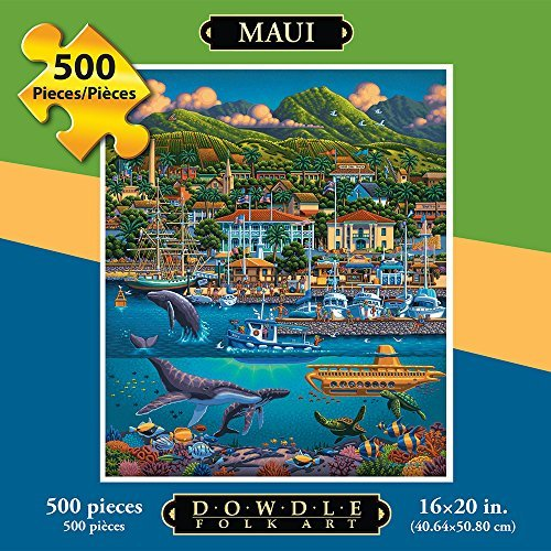 Jigsaw Puzzle  Maui Hawaii 500 Pc By Dowdle Folk Art by Dowdle Folk Art