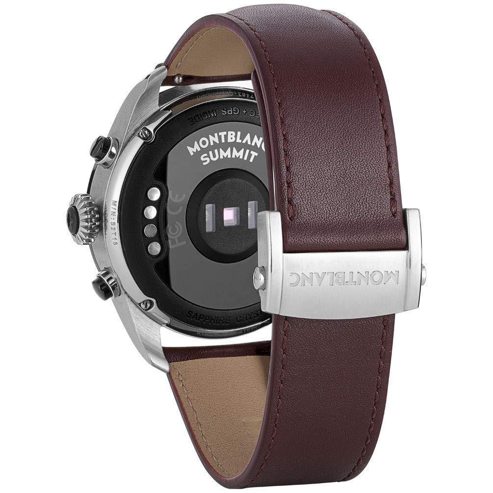 Reloj Montblanc Summit 2 Smartwatch 119439 Bicolor Acero y Piel marrón: Amazon.es: Relojes