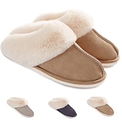 Womens Slippers Memory Foam Fluffy Soft Warm Slip On House Slippers, Nop-Slip Cozy Plush Indoor Outdoor | Slippers