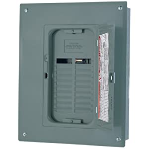 Square D by Schneider Electric QO124L125PGC Square D Pon Convertible Mains Load Center, 120/240 Vac, 125 A, 1 Phases, 22000 Air Interrupt, Steel