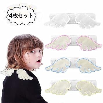 323761ac6ab7e9 Amazon | 汗取りパッド ベビー 天使の羽 4枚セット 綿100% 4重ガーせ ...