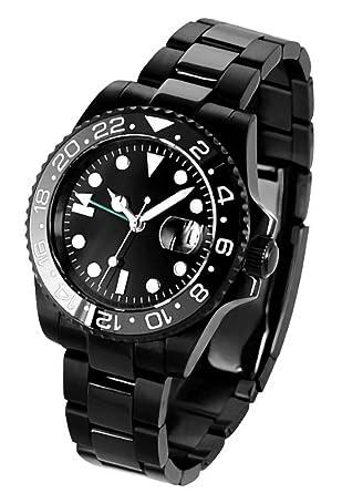 895cc00664 Amazon | ノーロゴ 腕時計 自動巻き GMTマスターNL-063BB4ASG (並行輸入 ...