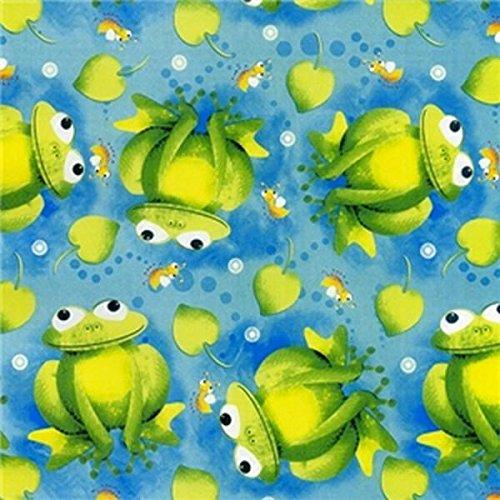 Premium Anti-Pill Curious Frog Fleece 385 ()