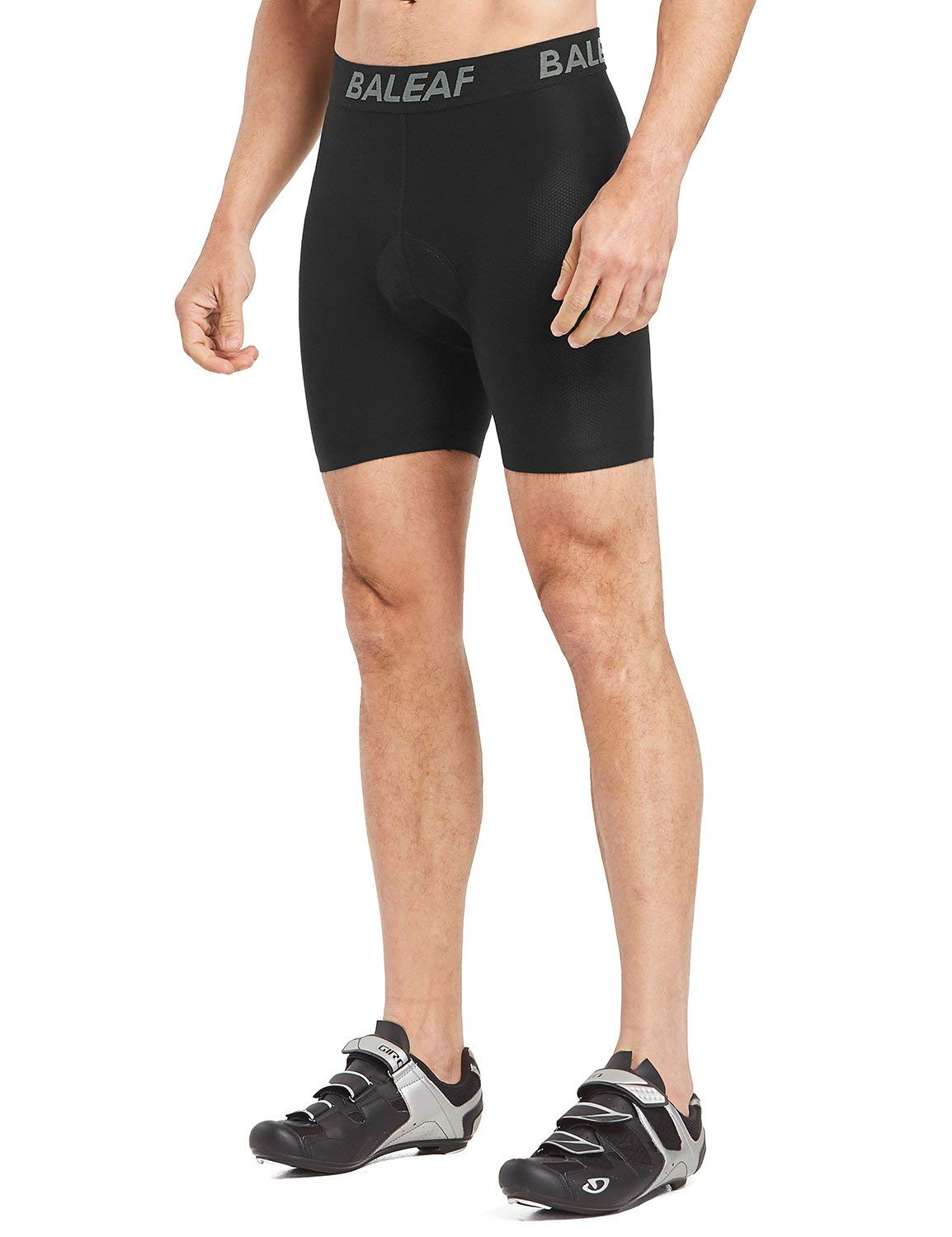 BALEAF Men's 3D Padded Cycling Mesh Breathable Underwear Shorts Tights Gray Size XL by BALEAF