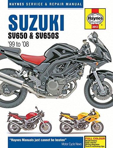 Download Suzuki SV650 & SV650S '99 to '08 (Haynes Service & Repair Manual) pdf