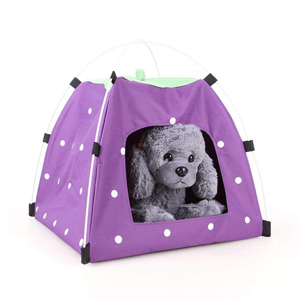 Cama para mascotas con estilo Cama plegable portátil para mascotas | Uso interior / exterior | Resistente al agua | Cubierta de sombra extraíble | Perros ...
