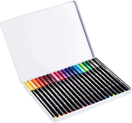 Edding 4-1300-20 - Estuche de metal con 20 rotuladores, Multicolor, 2 mm: Amazon.es: Oficina y papelería