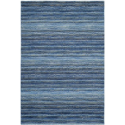 Safavieh Himalaya Collection HIM707A Handmade Blue and Multi Premium Wool Runner (2'3