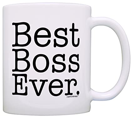 Amazon.com: Boss Gifts Best Boss Ever Best Manager Gifts Office Gift Bosses Day Gift Coffee Mug Tea Cup White: Kitchen & Dining