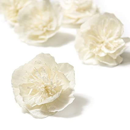 Amazon lings moment crepe paper flowers 5 x 4 inch cream lings moment crepe paper flowers 5 x 4 inch cream white paper flowers handmade mightylinksfo