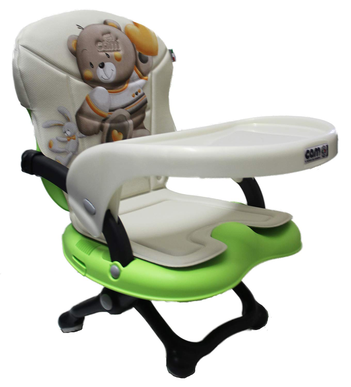 Trona alzador de silla Smarty Pop Cam con pieza acolchada AZZURRO 226 CONIGLIETTO